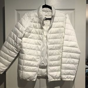 White Puffer Insulated Jacket